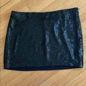 Haute Hippie Black Sequin Mini Skirt